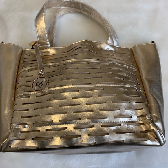 Coco + Carmen Handbags - Coco + Carmen Gold Handbag NWT